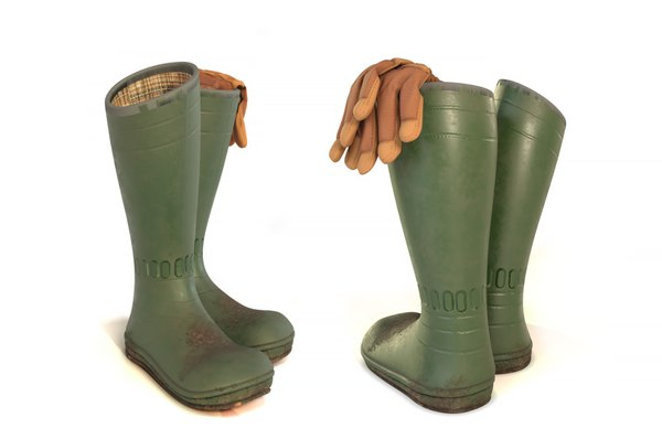 3D gardener boots gloves