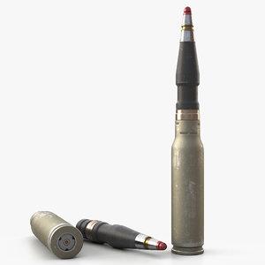 artillery bullet 3D model