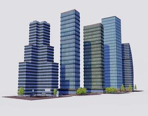 3D office buildings