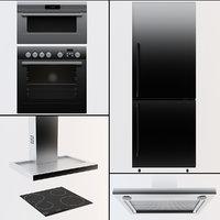 3D modern kitchen electronics
