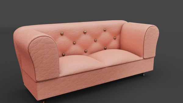 pink leather couch sofa model