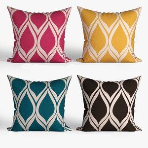 3D model decorative pillows set 065