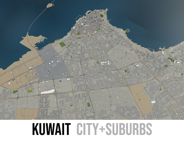 city kuwait surrounding - model