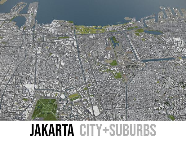 city jakarta area - 3D model