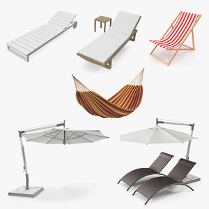 garden furniture 2 3D model