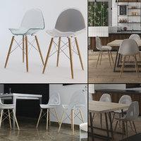 3D eames chair tables set model