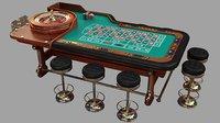 3D casino roulette table
