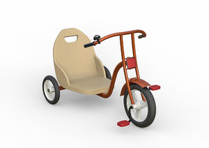 3D children tricycle