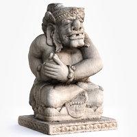 3D model balinese guardian statue