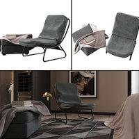 3D modern chair ottoman