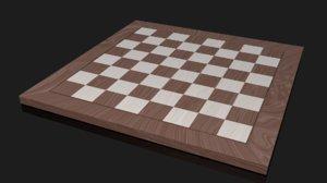 3D chessboard chess model