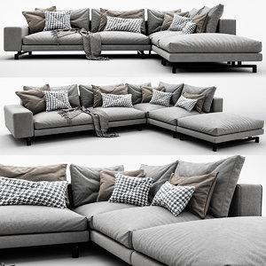 3D sherman sofa