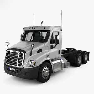 3D freightliner cascadia day model