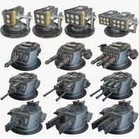 Sci-Fi Heavy Artillery x13 Package