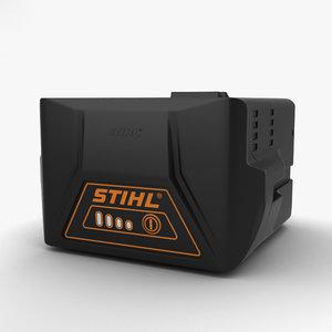 stihl battery ak20 3D model