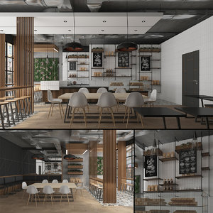 coffee house cafe 3D model