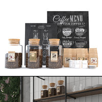 coffee set accessories jars model