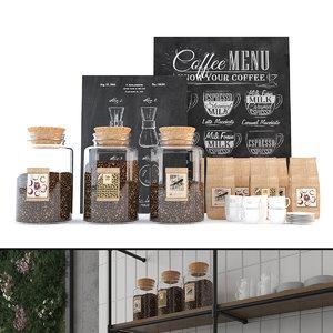 coffee set accessories jars model