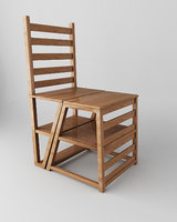 folding chair in stairs