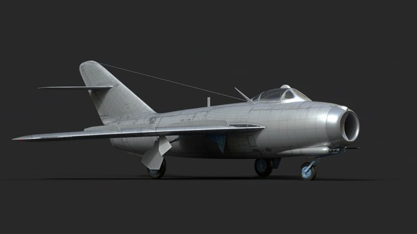 mig-17 fighter aircraft 3D