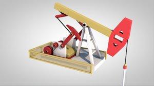 fuel oil industrial pump jack 3D model