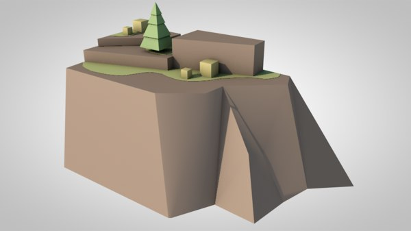 3D mountains nature terrain model