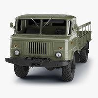 GAZ-66 Truck (High-Poly)