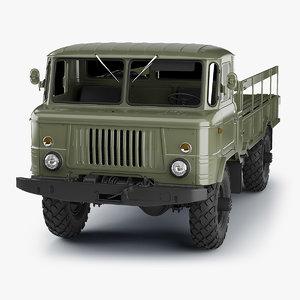 3D model soviet army truck gaz-66