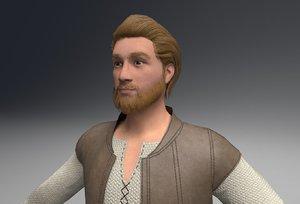 beard peasant 3D model