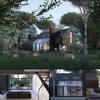 3D forest villa blues