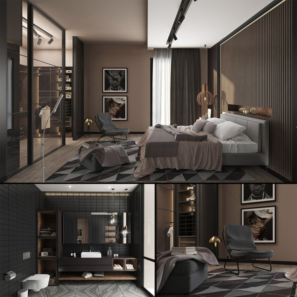 roma bedroom room bathroom 3D