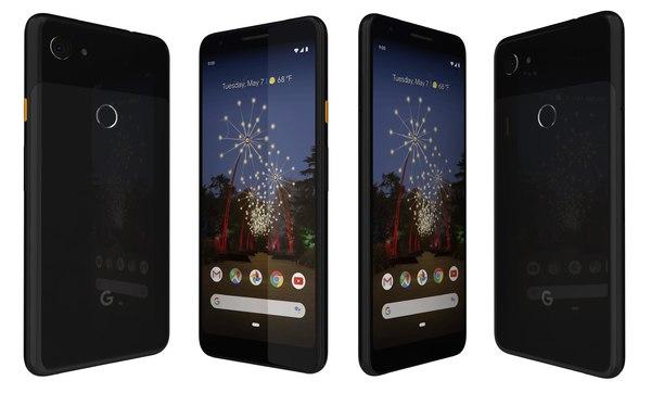 google pixel 3a black 3D model