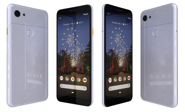 3D google pixel 3a purple-ish model