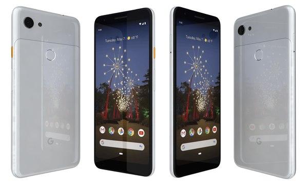 3D google pixel 3a white