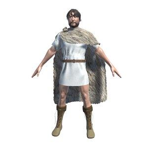 roman medieval tunic 3D model