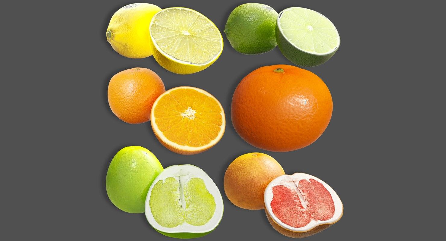 citrus fruit x6 package model