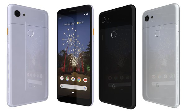 google pixel 3a colors 3D model