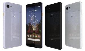 google pixel 3a colors 3D model
