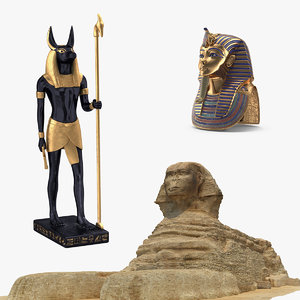egypt egyptian anubis 3D