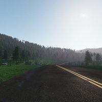 3D road highlands model