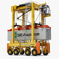 straddle carrier generic 3D model
