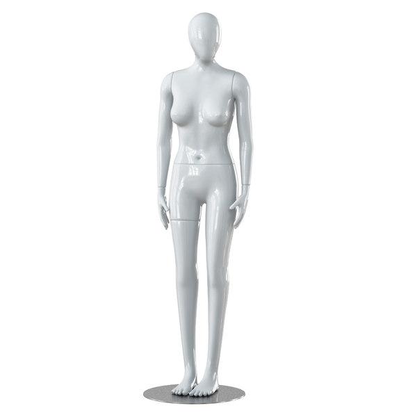 3D model faceless woman mannequin