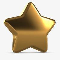 3D model small cute star