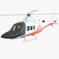 3D aw109 helicopter trekker