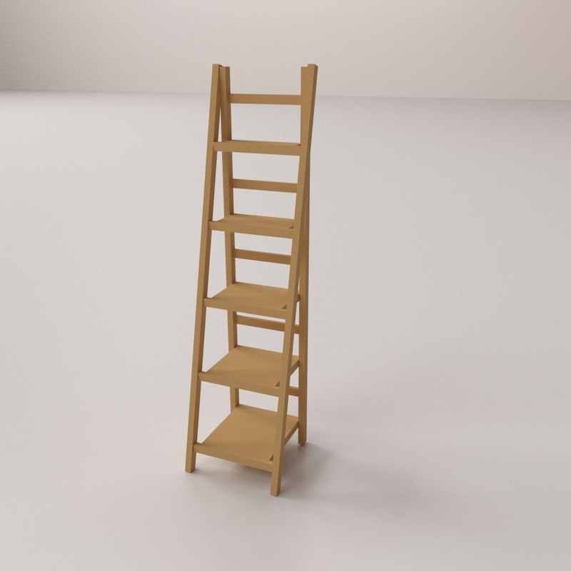 Ladder Shelf 3D Model