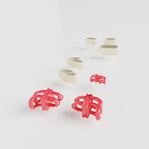 3D zipper teeth