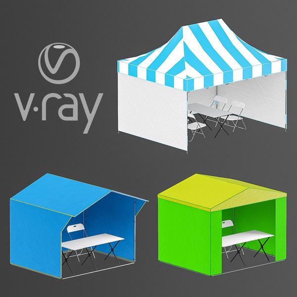 stalls 3D model