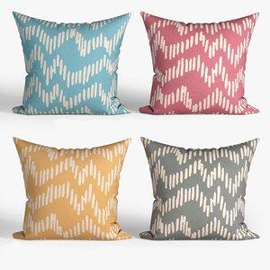 3D decorative pillows set 067