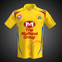 Cricket Jersey- CSK Shirt 3d Model