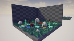 3D model stylized nature pack